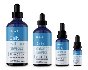 Elixinol Daily Balance Full-Spectrum CBD Tincture Natural