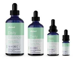 Elixinol Daily Balance Broad-Spectrum Hemp Tincture Winter Mint