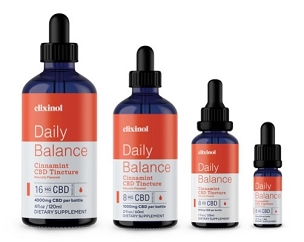 Elixinol Daily Balance Full-Spectrum Hemp Tincture Cinnamint